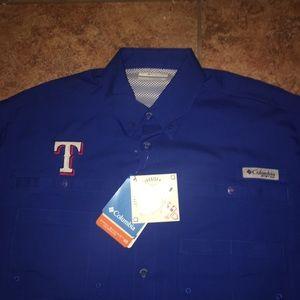 02d22e902dc Columbia Shirts   Texas Rangers Pfg Shirt   Poshmark